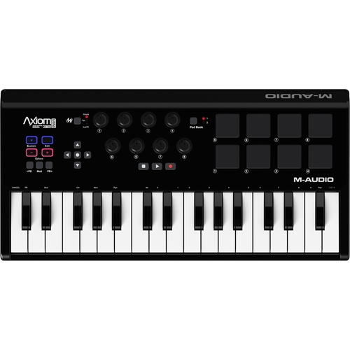 M-Audio - Axiom AIR Mini 32 Premium Keyboard and Pad Controller - Black