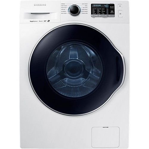 Samsung - 2.2 Cu. Ft. 12-Cycle High-Efficiency Steam Front-Loading Washer - White