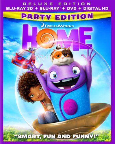 Home [Includes Digital Copy] [3D] [Blu-ray/DVD] [Party Edition] [Blu-ray/Blu-ray 3D/DVD] [2015] 4847029