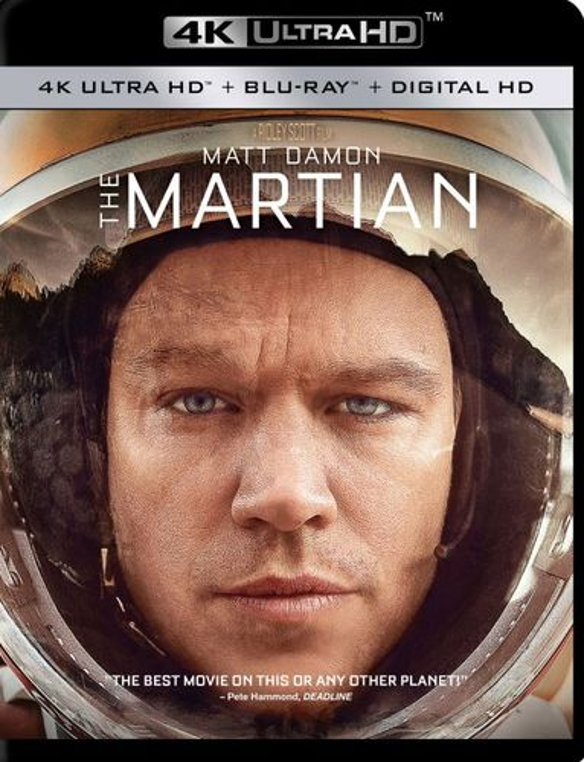 The Martian [4K Ultra HD Blu-ray/Blu-ray] [Includes Digital Copy] [2015] 4856504