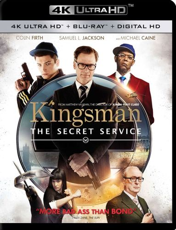 Kingsman: The Secret Service [4K Ultra HD Blu-ray/Blu-ray] [Includes Digital Copy] [2015] 4856511