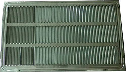 """LG - Rear Grille for 26"""" Thru-the-Wall Air Conditioners - Silver Metallic 4861737"""