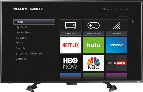 "Sharp - 43"" Class (42.5"" Diag.) - LED - 1080p - Smart - HDTV - Roku TV"