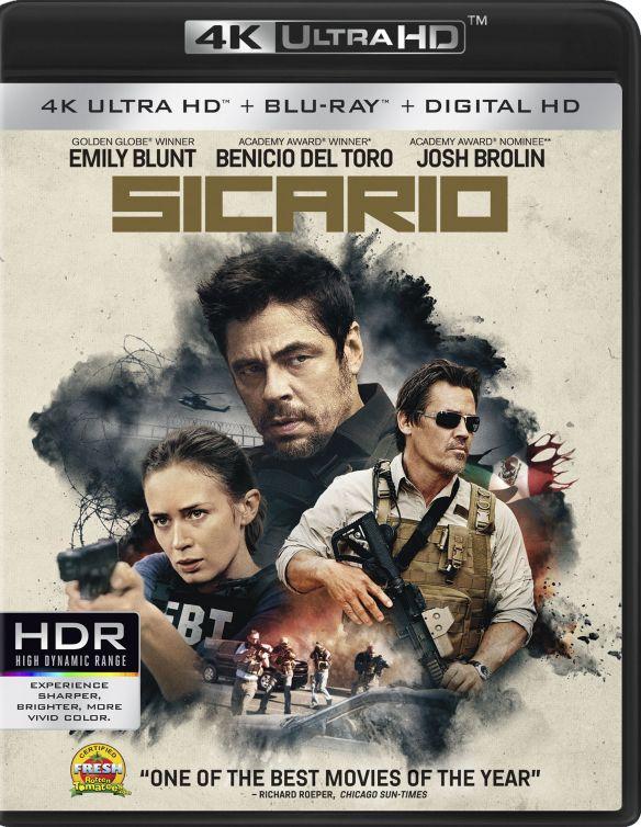 Sicario [4K Ultra HD Blu-ray/Blu-ray] [Includes Digital Copy] [2 Discs] [2015] 4880900