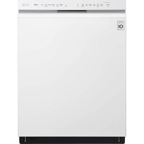 "LG - 24"" Front Control Built-In Dishwasher with Stainless Steel Tub - White 4890800"