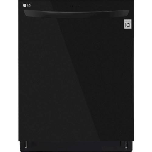 "LG - 24"" Top Control Built-In Dishwasher with QuadWash and Stainless Steel Tub - Black"