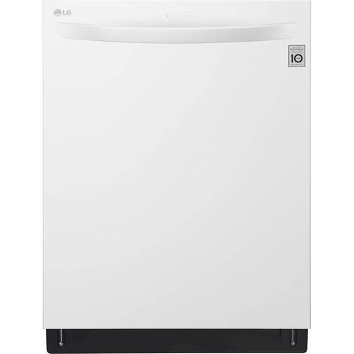 "LG - 24"" Top Control Built-In Dishwasher with QuadWash and Stainless Steel Tub - White 4891000"