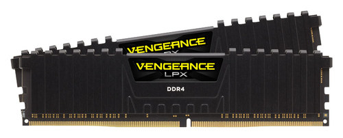 CORSAIR - Vengeance LPX 32GB (2PK x 16GB) 3.2 GHz DDR4 DRAM Desktop Memory Kit - Black