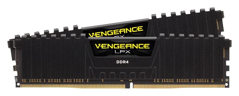 Corsair Vengeance LPX 2-Pack 16GB DDR4 DRAM Desktop Memory Kit Black CMK32GX4M2B3200C16
