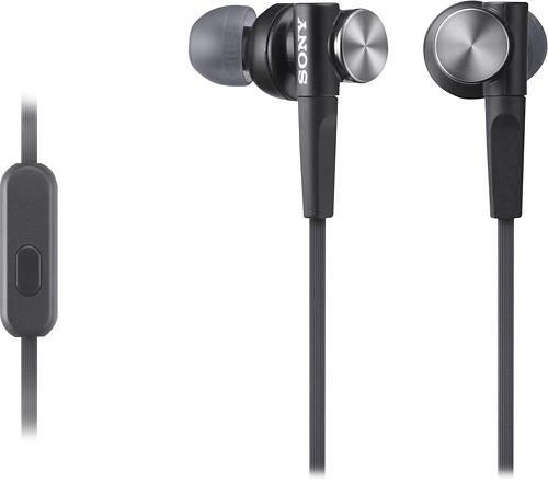 Sony - Earbud Headphones - Black
