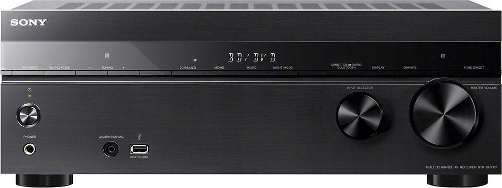 Sony - 1015W 7.2-Ch. 4K Ultra HD and 3D Pass-Through A/V Home Theater Receiver - Black