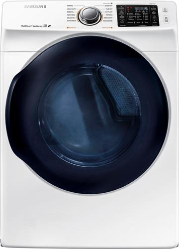 Samsung - 7.5 Cu. Ft. 12-Cycle High-Efficiency Electric Dryer with Steam - White
