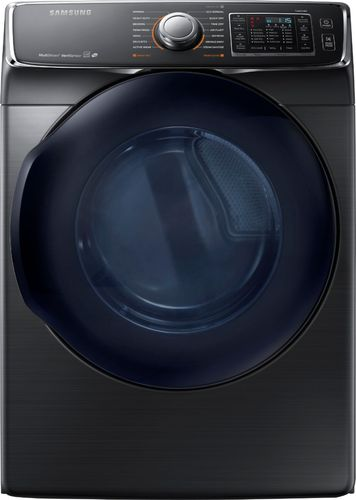 Samsung - 7.5 Cu. Ft. 14-Cycle High-Efficiency Electric Dryer with Steam - Black Stainless