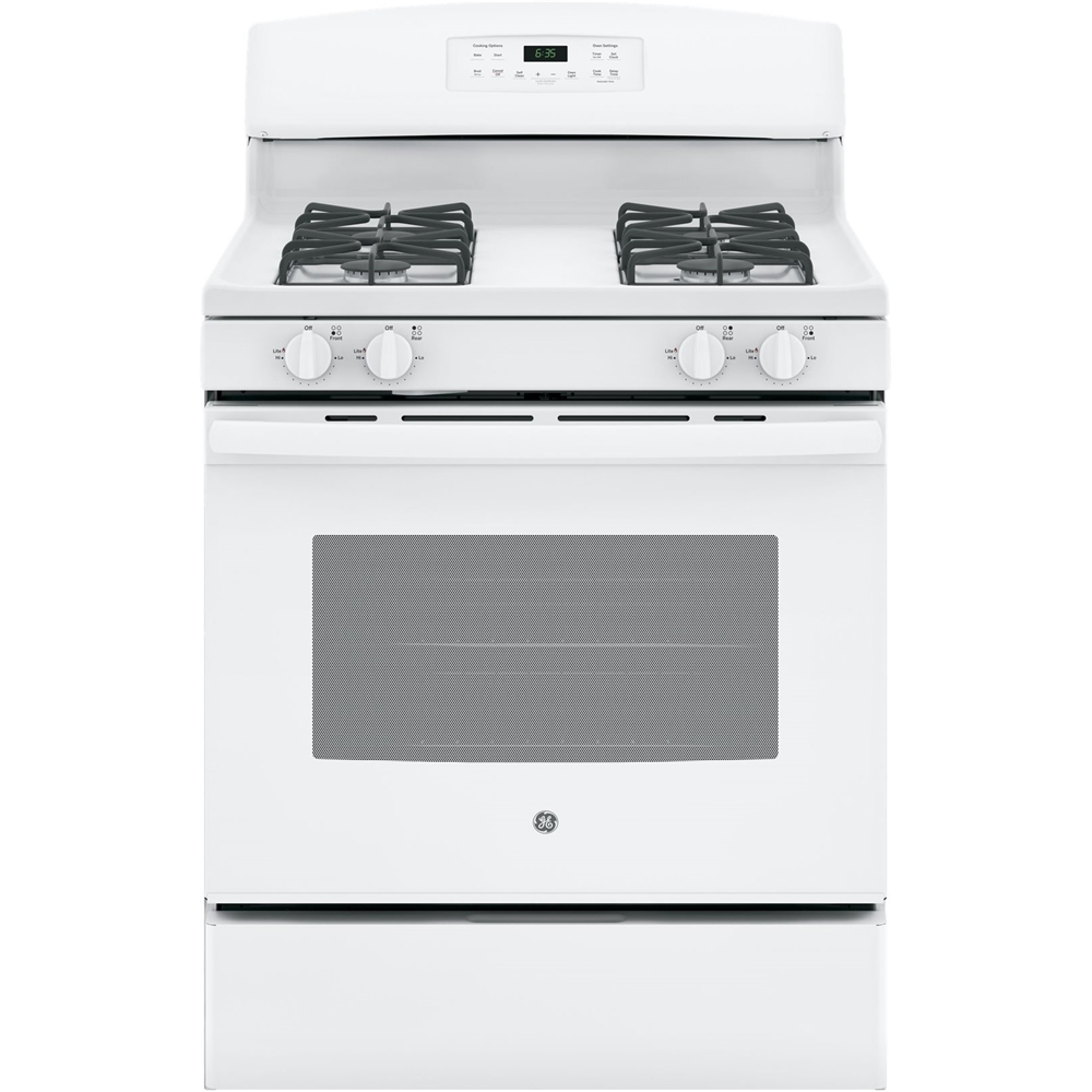 GE JGB635DEKWW 5.0 Cu. Ft. Self-Cleaning Freestanding Gas Range White