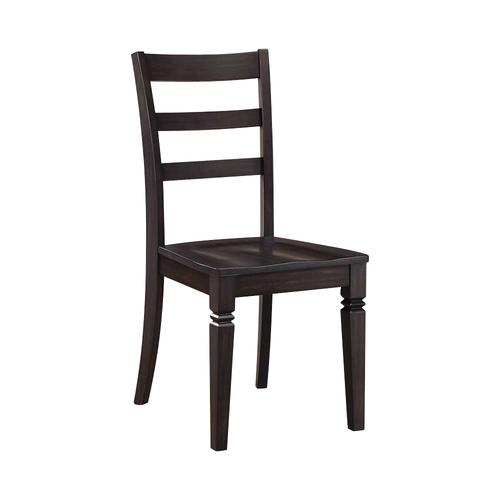 Whalen Furniture - Kendal Wood Desk Chair - Espresso