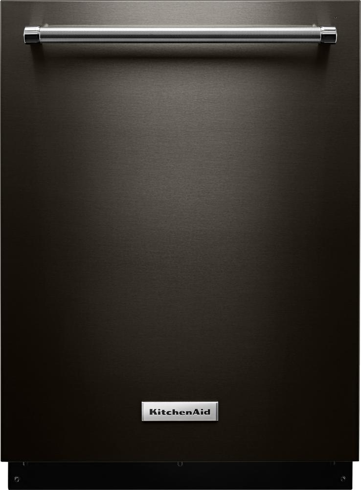 "KitchenAid 24"" Top Control Tall Tub Built-In Dishwasher with Stainless Steel Tub Black Stainless KDTM404EBS"