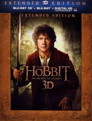The Hobbit: An Unexpected Journey 3D [Extended Edition] [UltraViolet] [Blu-ray] [3D] [Blu-ray/Blu-ray 3D] [2012] 4962400
