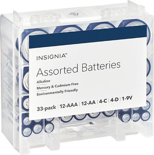 Insignia Assorted Batteries - Battery 33 x AAA / AA / C type / D type / 9V - alkaline