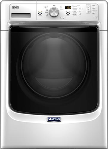 Maytag - 4.3 cu. ft. 8-Cycle High-Efficiency Front Loading Washer - White