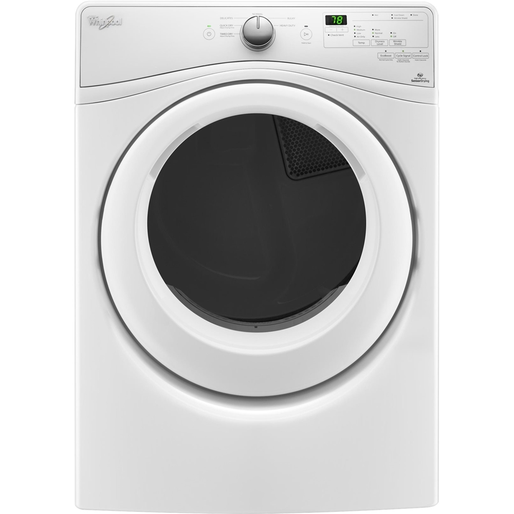 Whirlpool 7.4 Cu. Ft. 6-Cycle Gas Dryer White WGD75HEFW