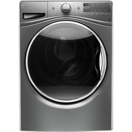 Whirlpool - 4.5 cu. ft. 11-Cycle High-Efficiency Front Load Washer with Steam - Diamond Steel 4978222