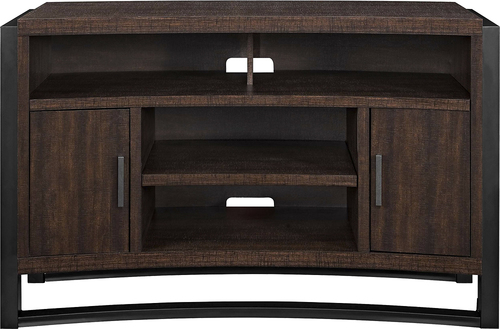 """Whalen Furniture - TV Console for Most Flat-Panel TVs Up to 60"""" - Medium Brown"""
