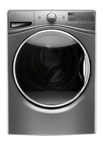 Whirlpool - 4.5 cu. ft. 12-Cycle High-Efficiency Front Load Washer with Steam - Chrome Shadow