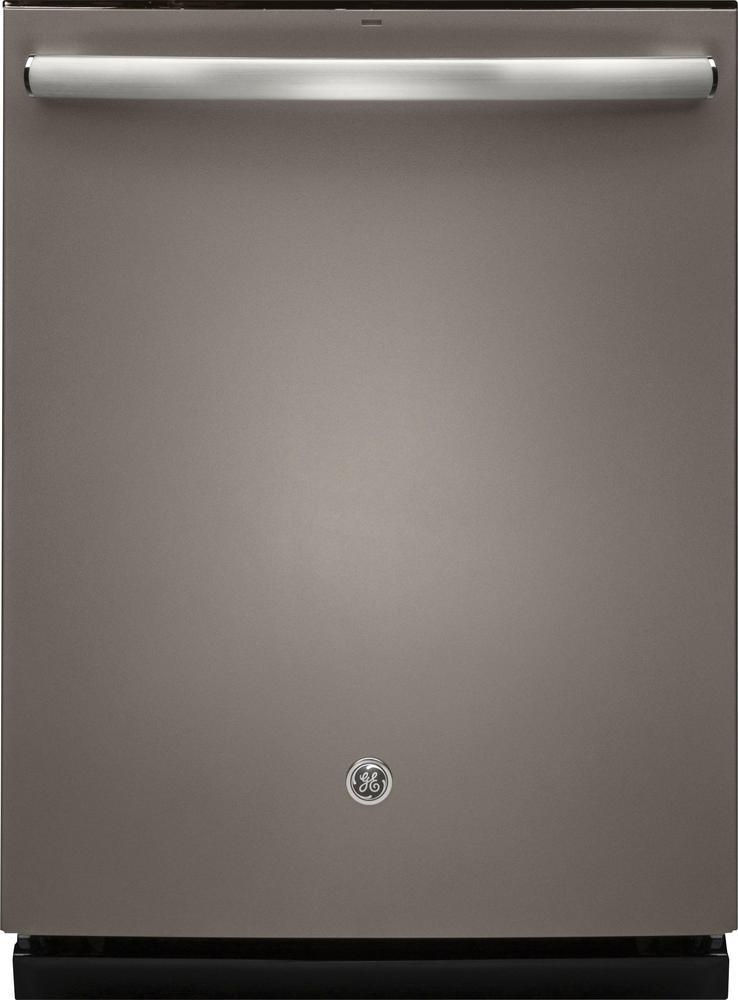 """GE GDT655SMJES 24"""" Top Hidden Control Tall Tub Built-In Dishwasher with Stainless Steel Slate"""