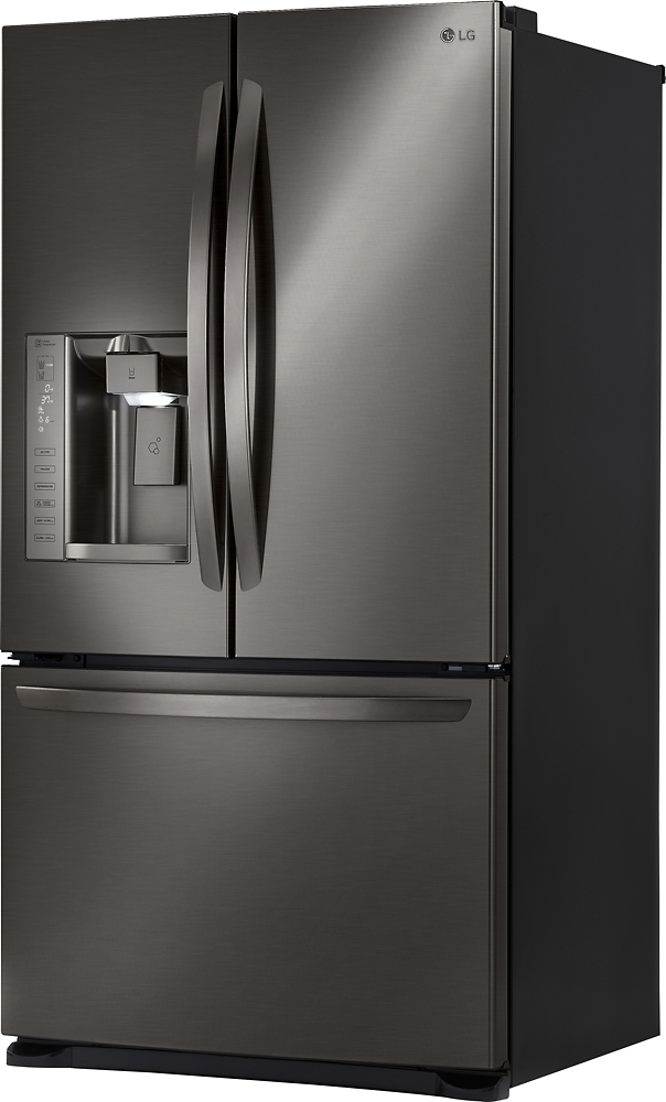 Lg 241 Cu Ft French Door Refrigerator Black Stainless Steel