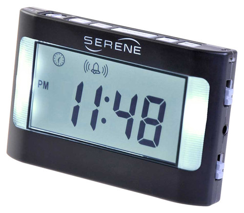 Serene Innovations - VA3 Vibrating Travel Alarm Clock - Black 5014172
