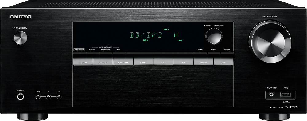 Onkyo - 700W 5.1-Ch. 4K Ultra HD and 3D Pass-Through A/V Home Theater Receiver - Black