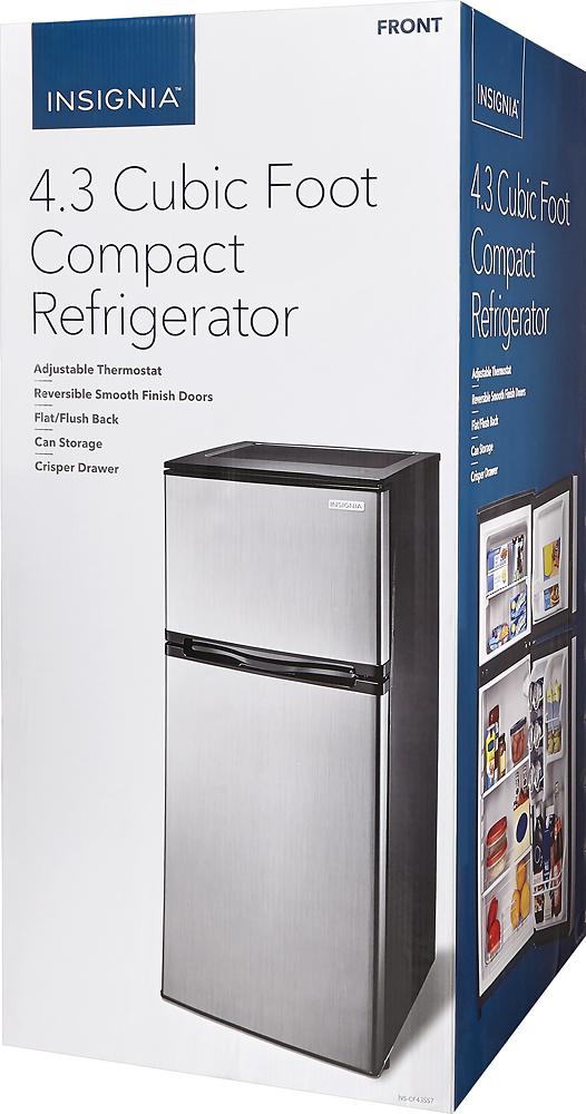 ft mini fridge stainless steel look
