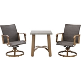 Hanover Hermosa 3-Piece Bistro Set gray/brown HERDN3PC-BST