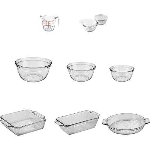 Anchor Hocking - 11-Piece Glass Bakeware Set - Clear 5086476