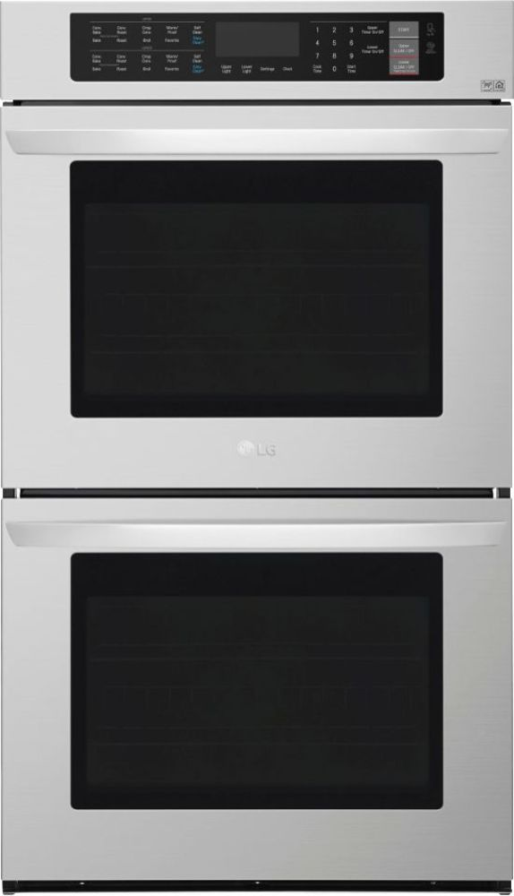 """LG 30"""" Built-In Double Electric Convection Wall Oven Stainless Steel LWD3063ST"""