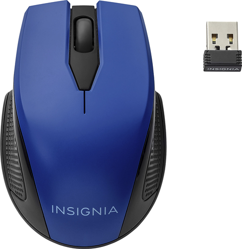 Insignia NS-PNM7013-BL - Mouse - optical - 3 buttons - wireless - 2.4 GHz - USB wireless receiver - blue