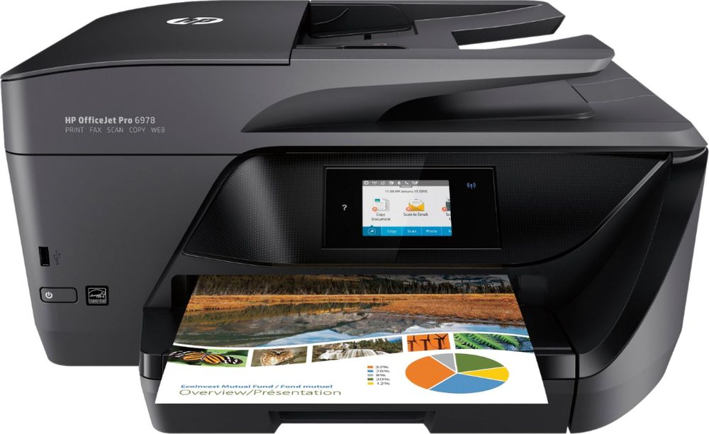 HP - OfficeJet Pro 6978 Wireless All-In-One Instant Ink Ready Printer
