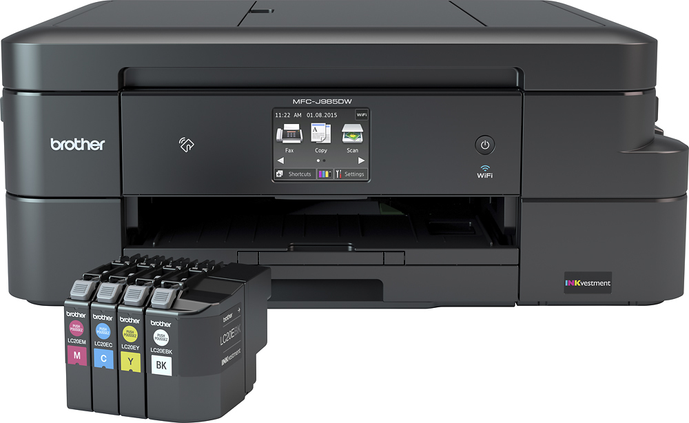 Brother INKvestment MFCJ985DW Wireless AllInOne Printer Black