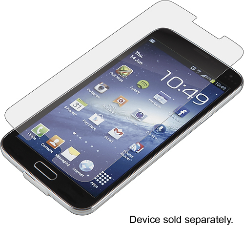 ZAGG - InvisibleShield Glass Screen Protector for Samsung Galaxy S 5 Cell Phones - Clear