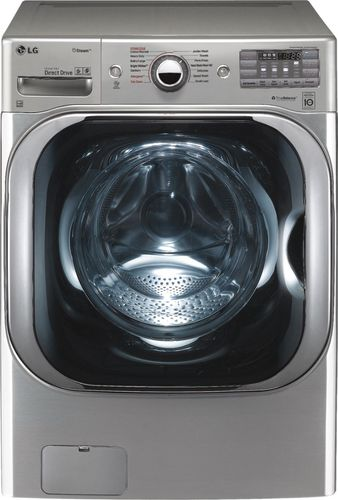 LG - 5.2 Cu. Ft. 14-Cycle Front-Loading Washer - Graphite Steel 5149404