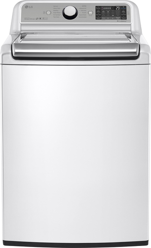 LG - 5.2 Cu. Ft. 12-Cycle Super Capacity Top Load Washer - White