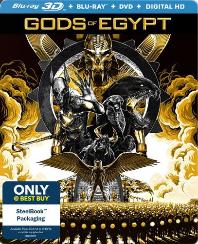 Gods of Egypt [3D] [Blu-ray/DVD] [SteelBook] [Only @ Best Buy] [Blu-ray/Blu-ray 3D/DVD] [2016] 5202201