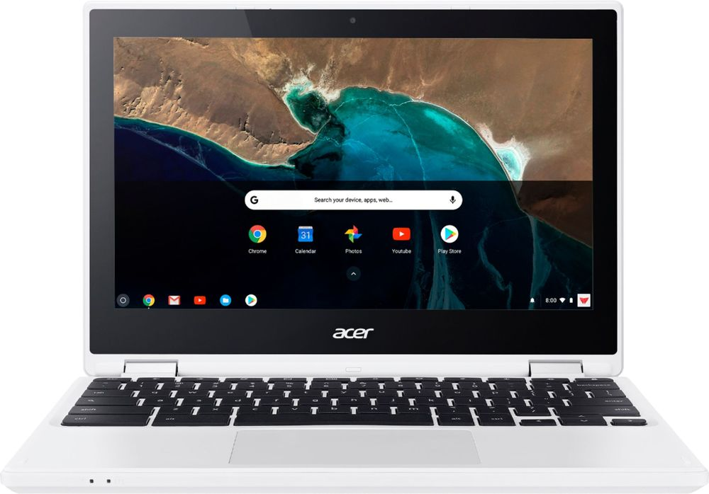 "Acer R 11 2-in-1 11.6"" Touch-Screen Chromebook Intel Celeron 4GB Memory 16GB eMMC Flash Memory White NX.G54AA.012"