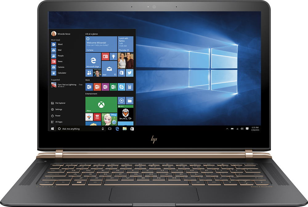 "HP Spectre 13.3"" Laptop Intel Core i5 8GB Memory 256 GB Solid State Drive 13-V001DX"