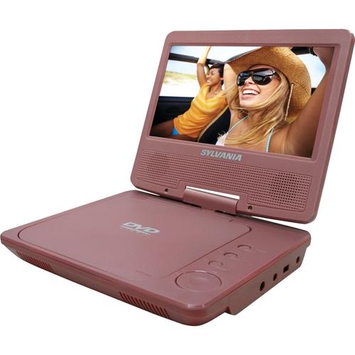 "Sylvania - 7"" Portable DVD Player - Pink 5211819"
