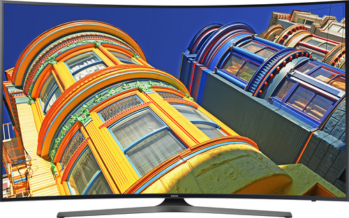 "Samsung - 55"" Class - (54.6"" Diag.) - LED - Curved - 2160p - Smart - 4K Ultra HD TV - Black"