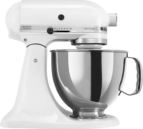 KitchenAid - KSM150PSWH Artisan Series Tilt-Head Stand Mixer - White