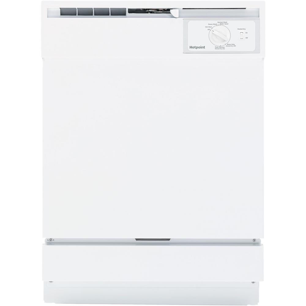 """GE 24"""" Built-In Dishwasher White HDA2100HWW"""