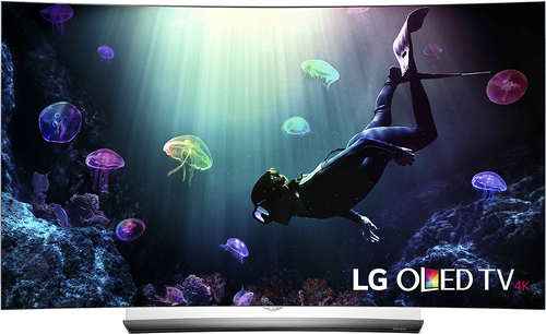 """LG - 65"""" Class - (64.5"""" Diag.) - OLED - Curved - 2160p - Smart - 3D - 4K Ultra HD TV - with High Dynamic Range - Silver"""