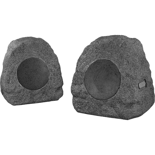 Innovative Technology - Rock Outdoor Bluetooth Speakers (Pair) - Gray BluetoothRechargeable batteryWater-resistantFor outdoor use